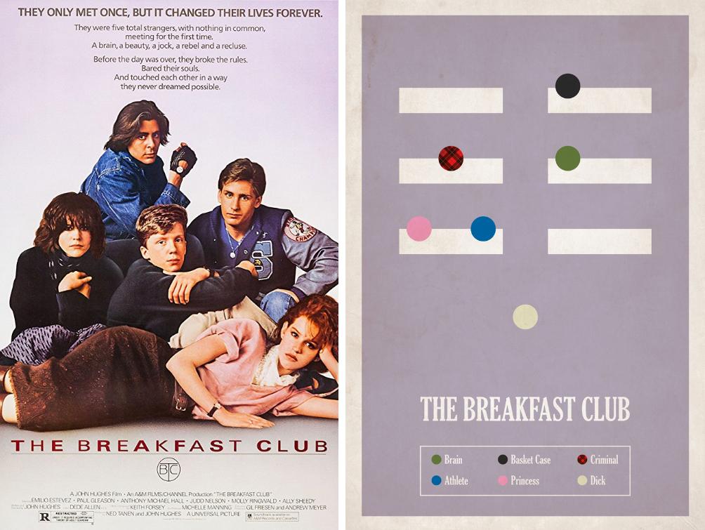 the breakfast club minimalist movie posters