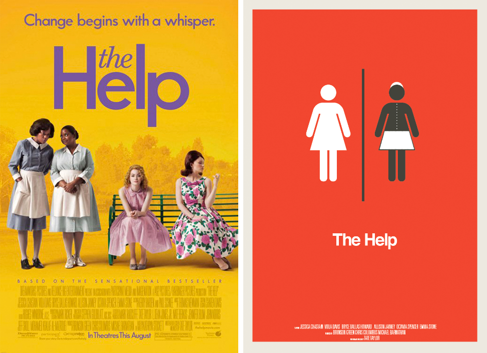 the help minimalist movie posters redesign