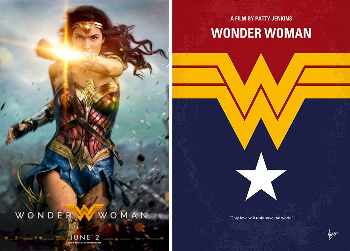 wonder woman minimalist movie posters
