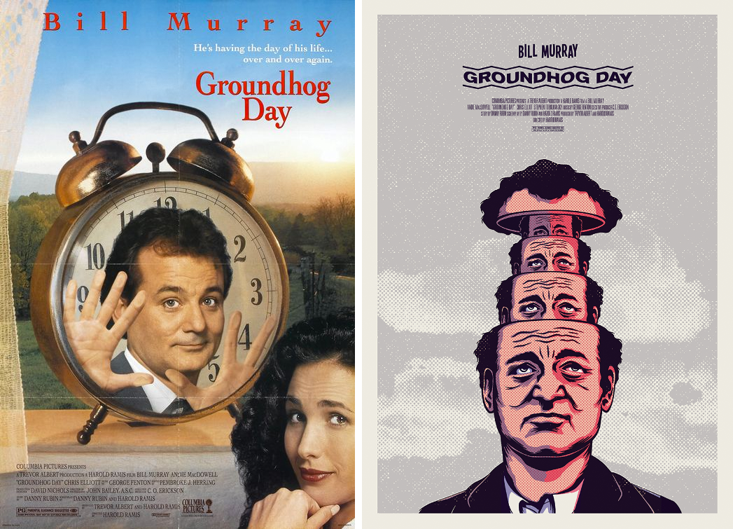 Redesigned-Movie-Posters-to-Inspire-your-Creativity-groundhog-day