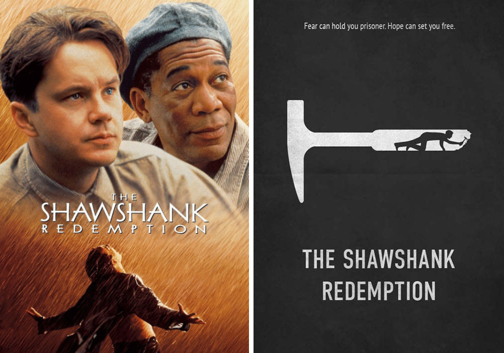 the shawshank redemption minimalist movie posters