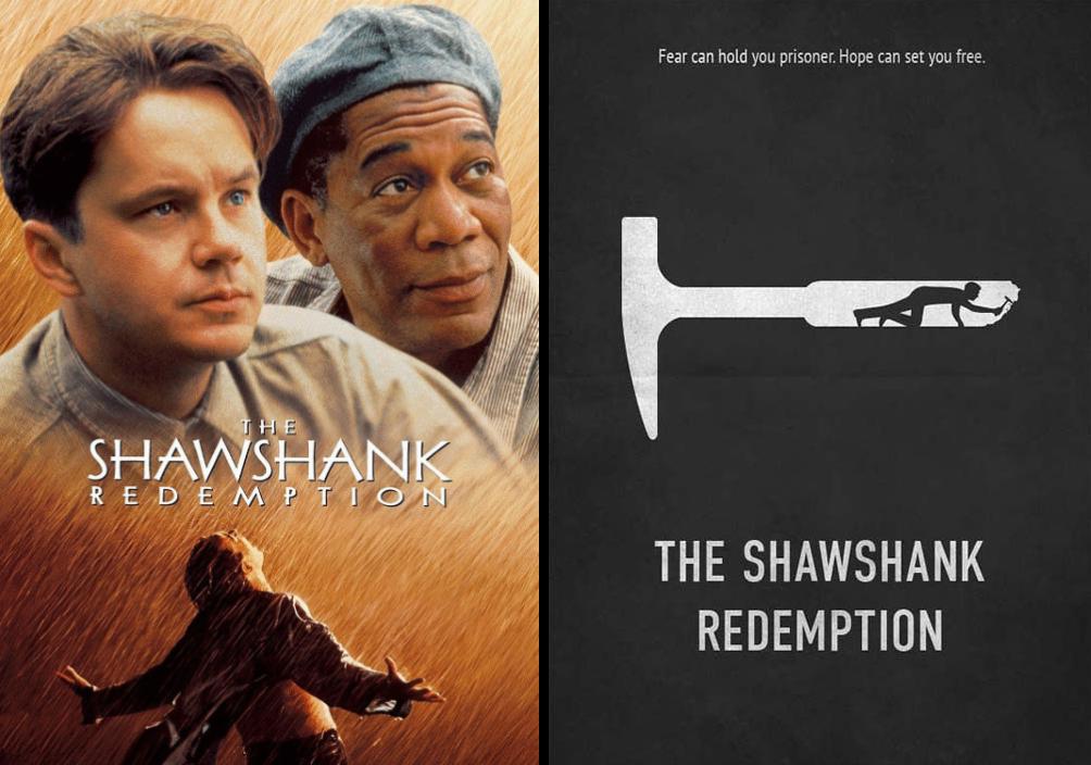 the shawshank redemption minimalist movie posters
