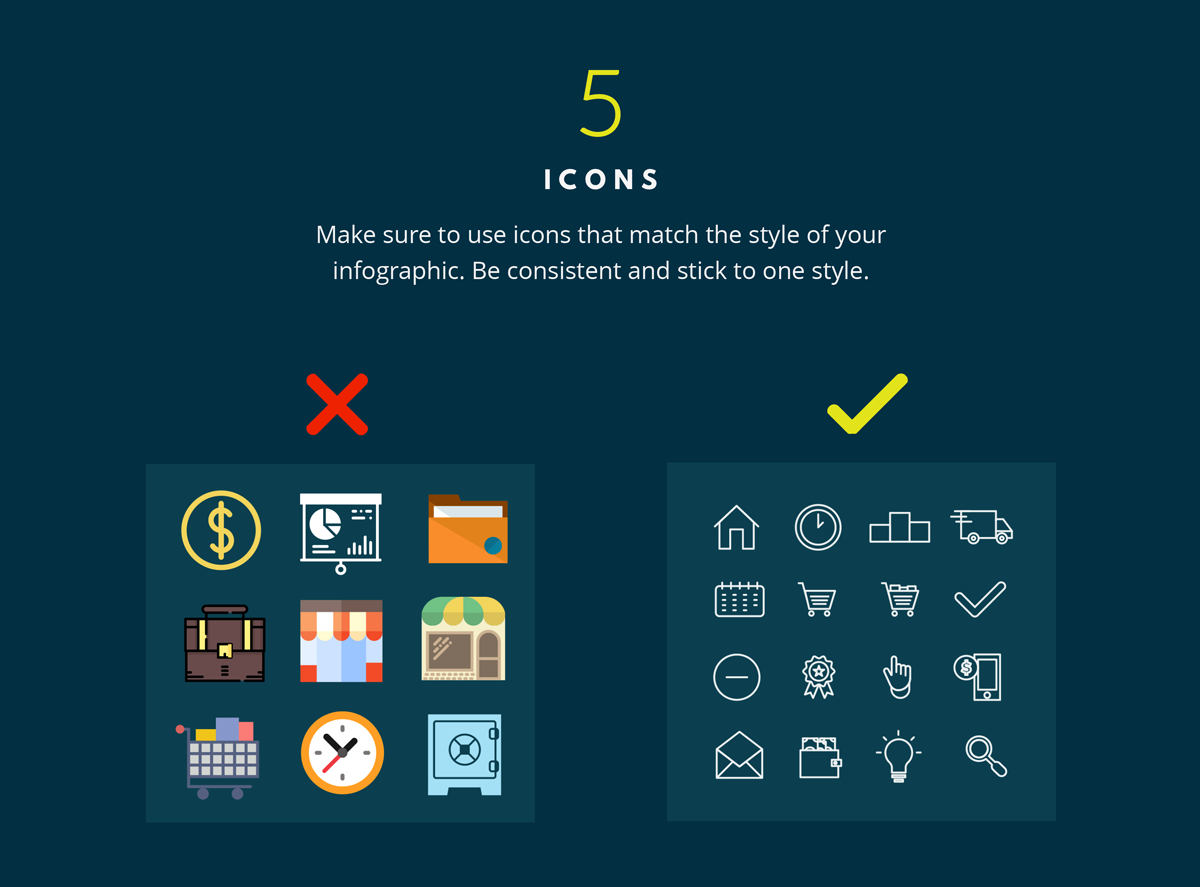 branding infographic icons 7 tips to keep your infographics on brand