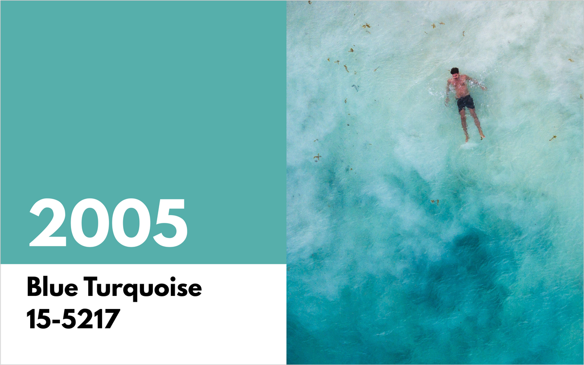 pantone color of the year 2005 blue turquoise