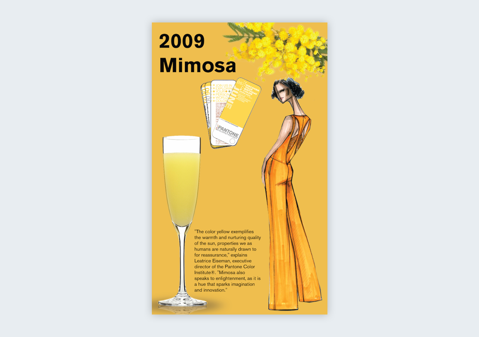 pantone color of the year 2009 mimosa