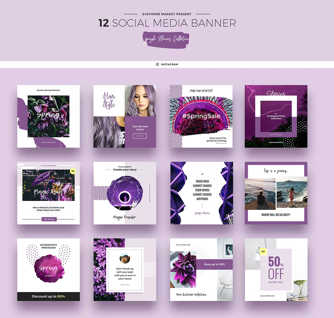 social media images pantone color of the year 2018