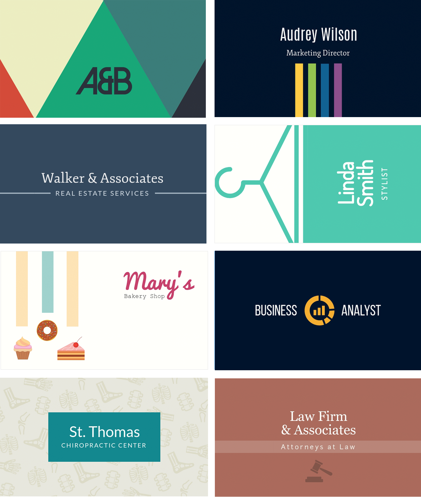How to Make Your Own Printables With Visme business cards examples