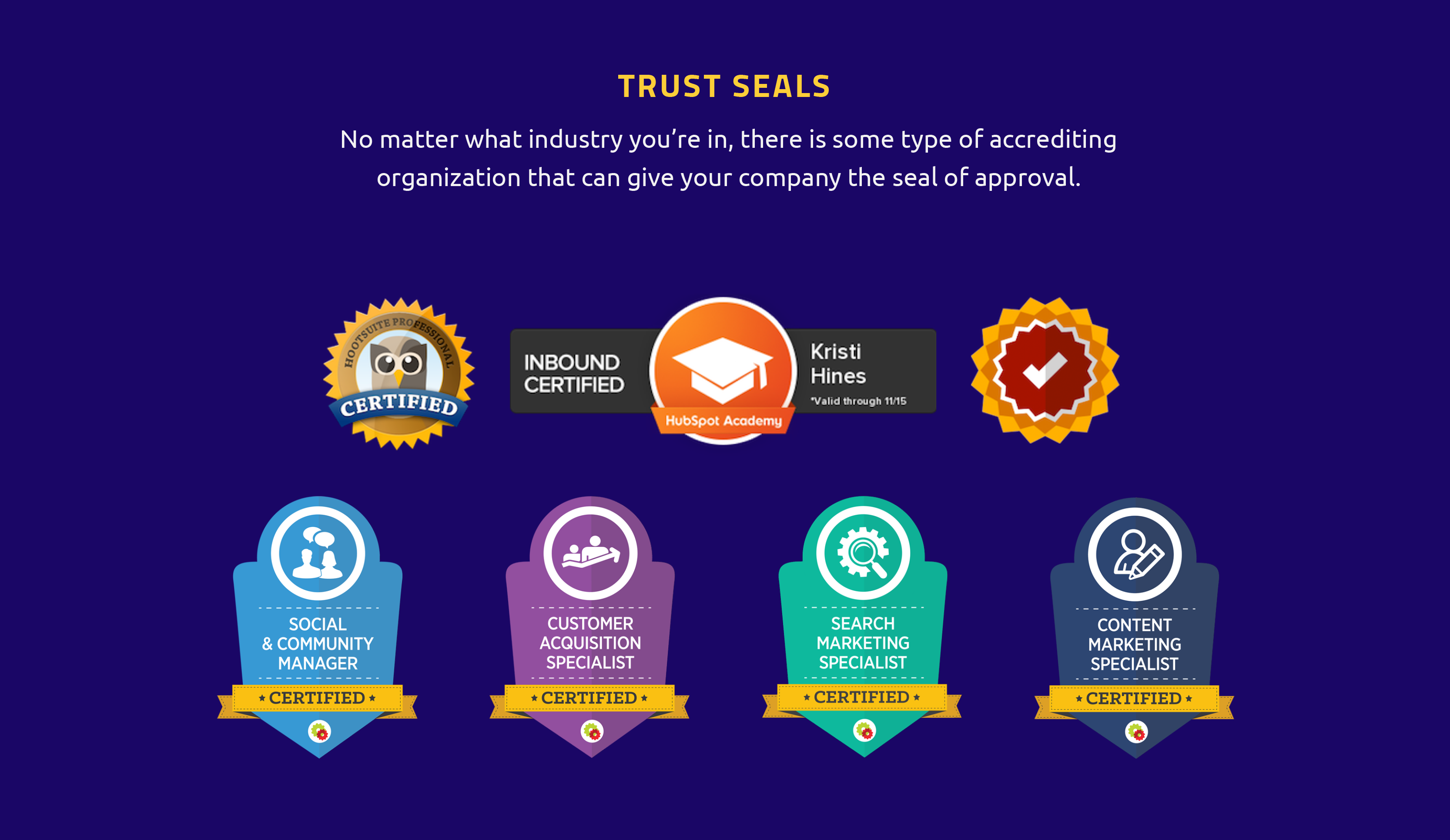 How to Gain Instant Credibility with Visual Social Proof trust seals