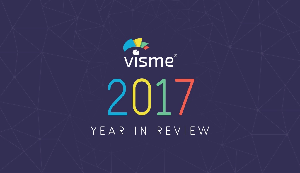 visme 2017 year in review
