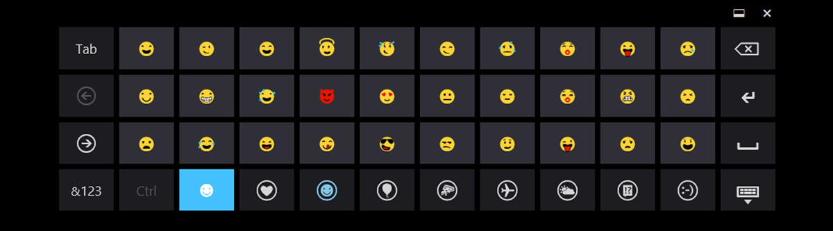 emoji keyboard on windows