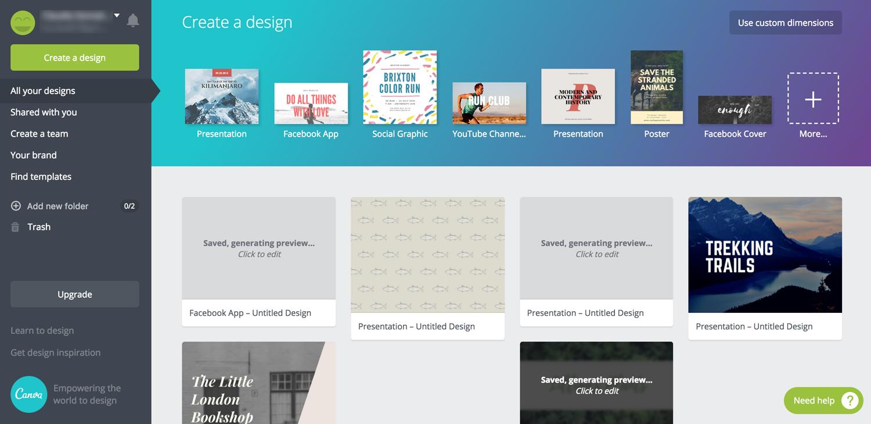 canva presentation software presentation tool interface