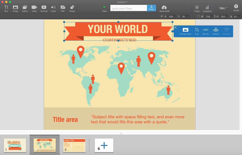 flowvella presentation software presentation tool interface