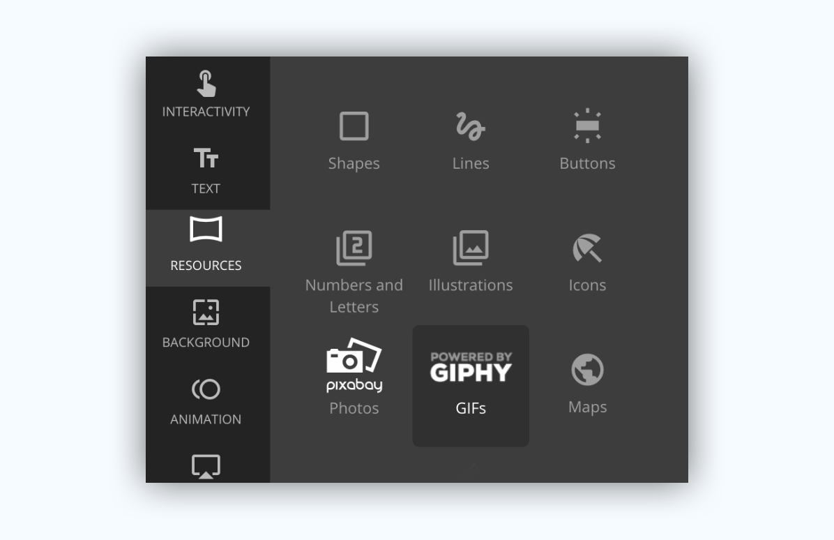 genial.ly presentation software presentation tool graphic assets