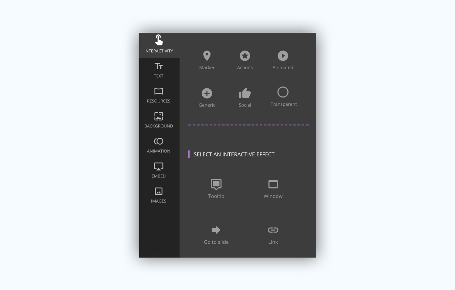 genial.ly presentation software presentation tool animation effects interactivity