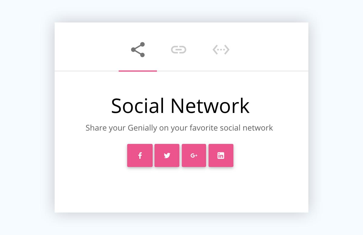 genial.ly presentation software presentation tool share to social media