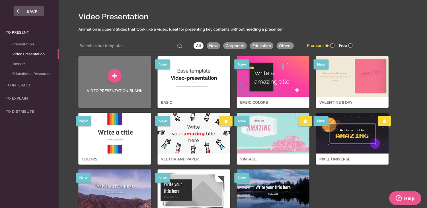 genial.ly presentation software presentation tool templates