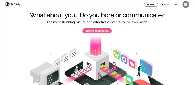 genial.ly presentation software presentation tool