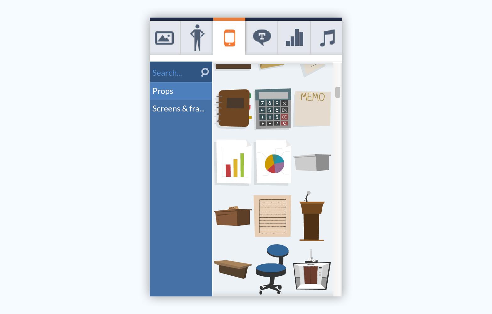Goanimate presentation software presentation tool graphic assets