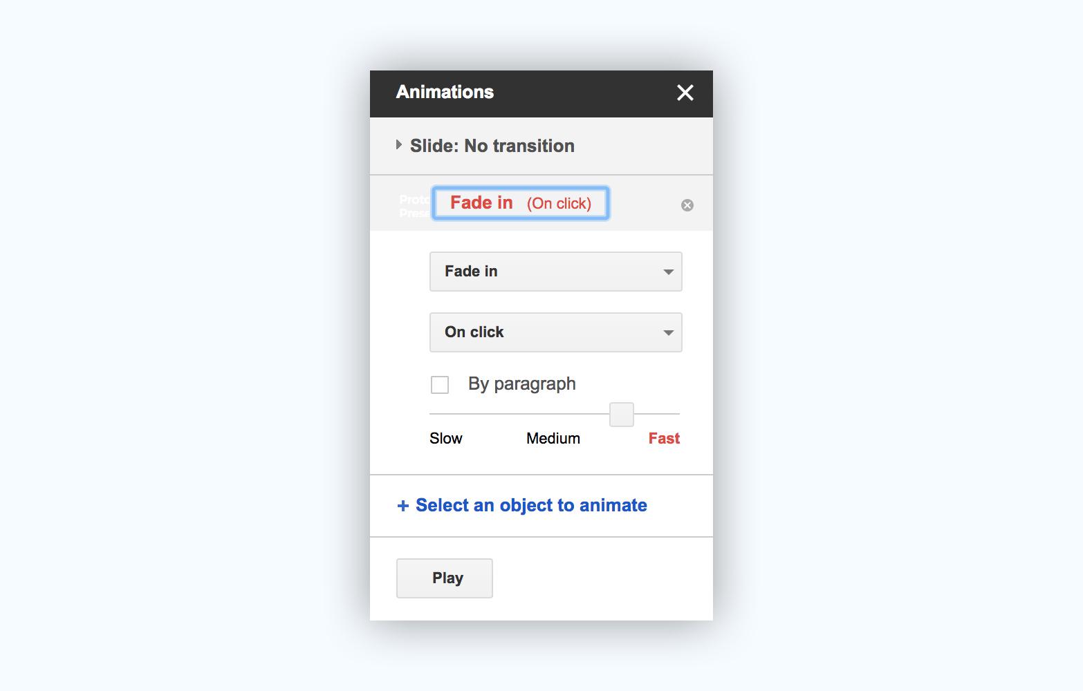 google slides presentation software presentation tool animation effects