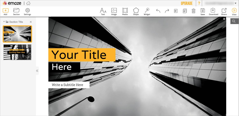 Best-Presentation-Software--A-Visual-Comparison-Guide-Emaze-Interface