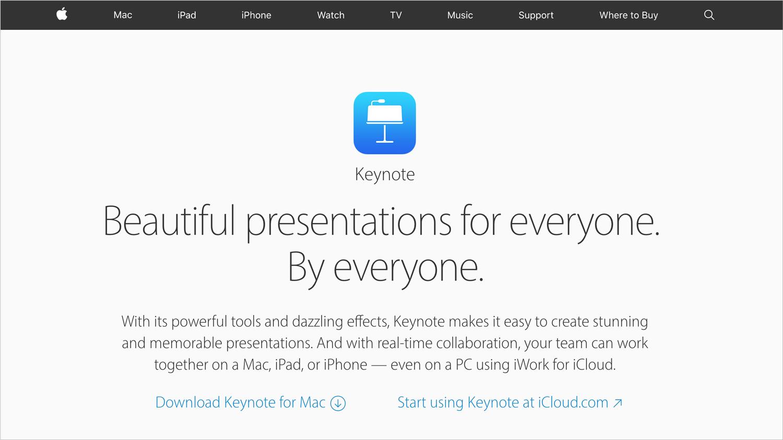 keynote presentation software presentation tool