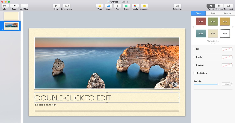 keynote presentation software presentation tool ease of use