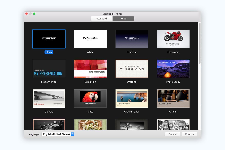 keynote presentation software presentation tool templates