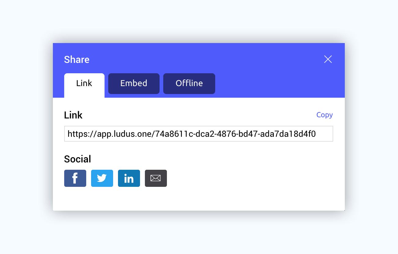 ludus presentation software presentation tool share to social media