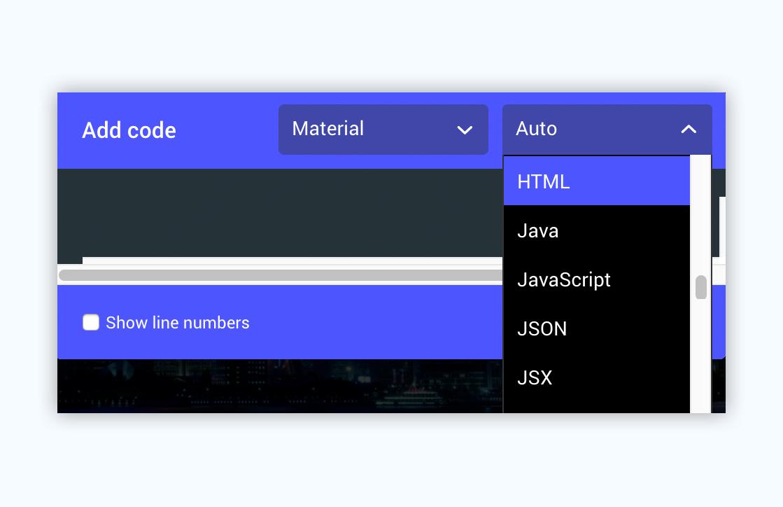 ludus presentation software presentation tool add code