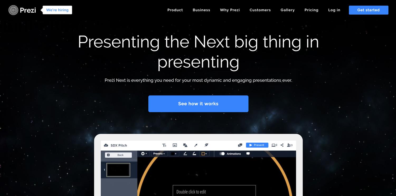 prezi next presentation software presentation tool