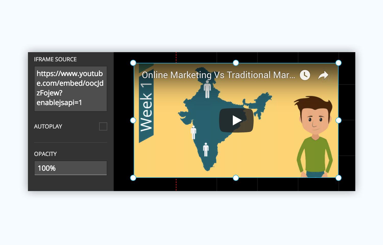 slides presentation software presentation tool add iframe add video
