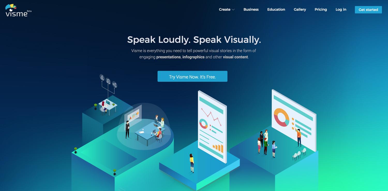visme best presentation software