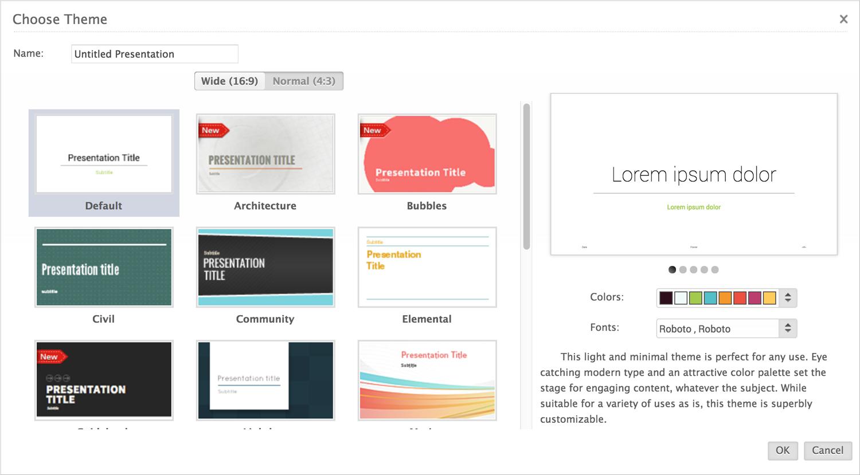 zoho show presentation software presentation tool templates
