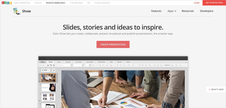 zoho show presentation software presentation tool