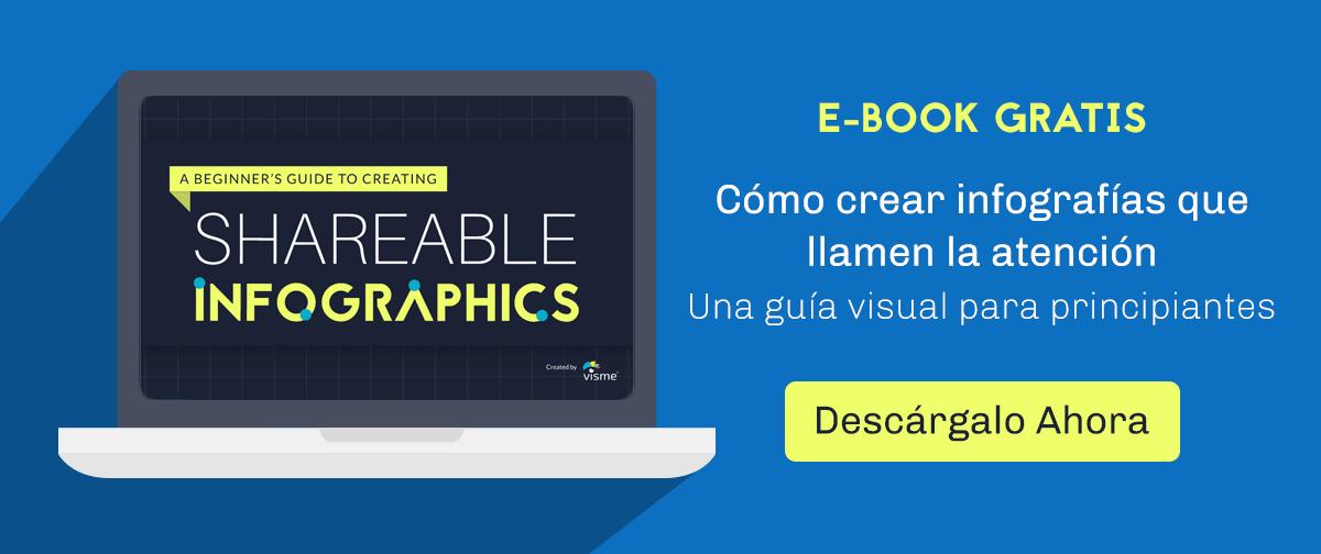 Cómo crear infografías que llamen la atención ebook Descarga CTA