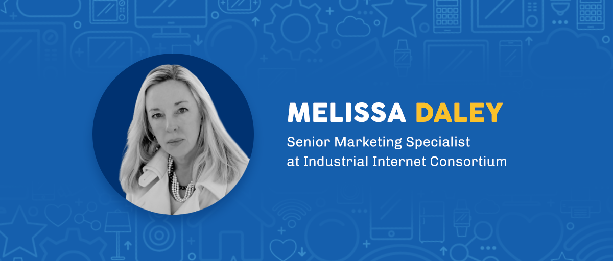 melissa daley senior marketing specialist at industrial internet consortium