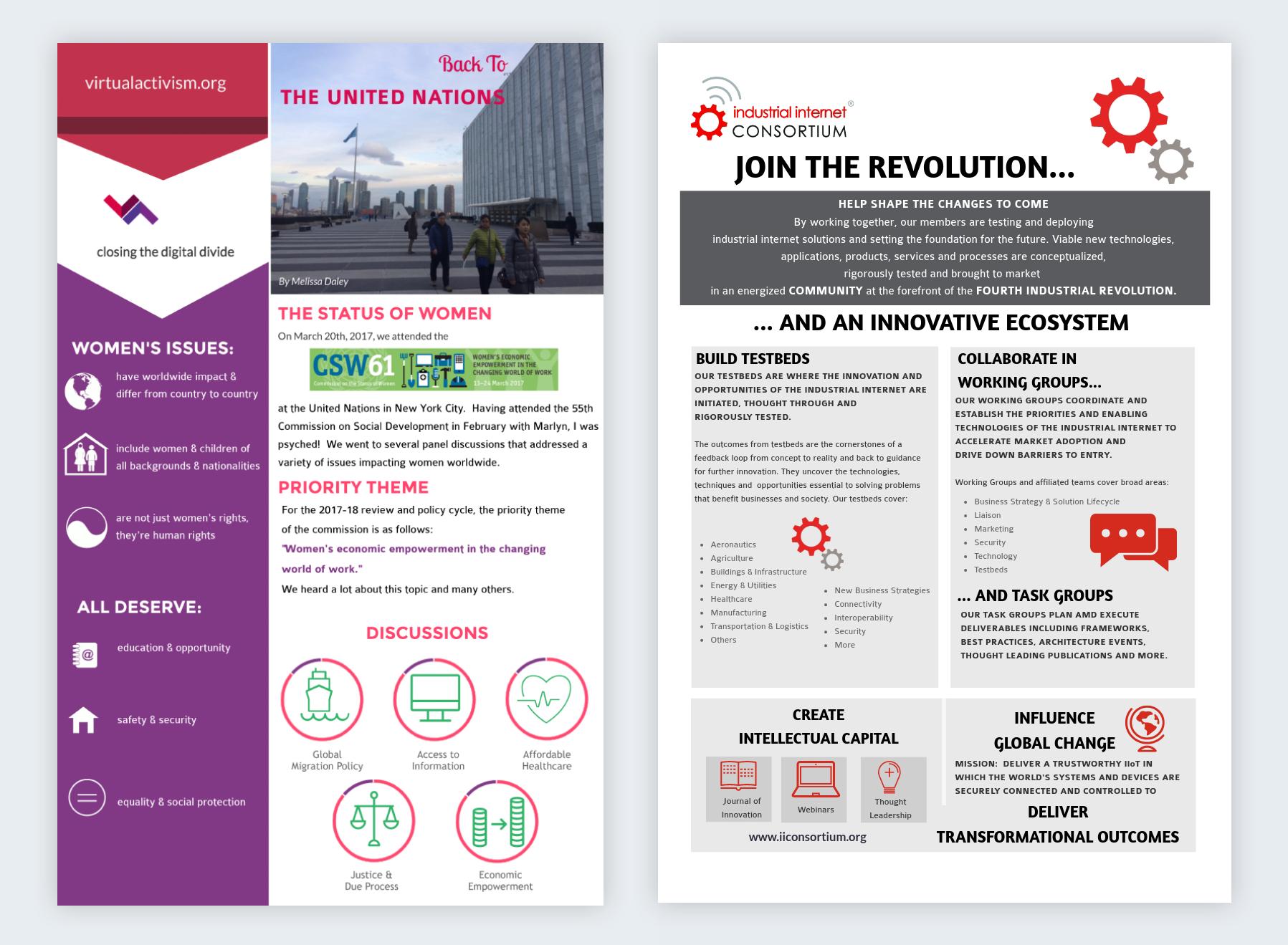 industrial internet consortium virtual activism infographics