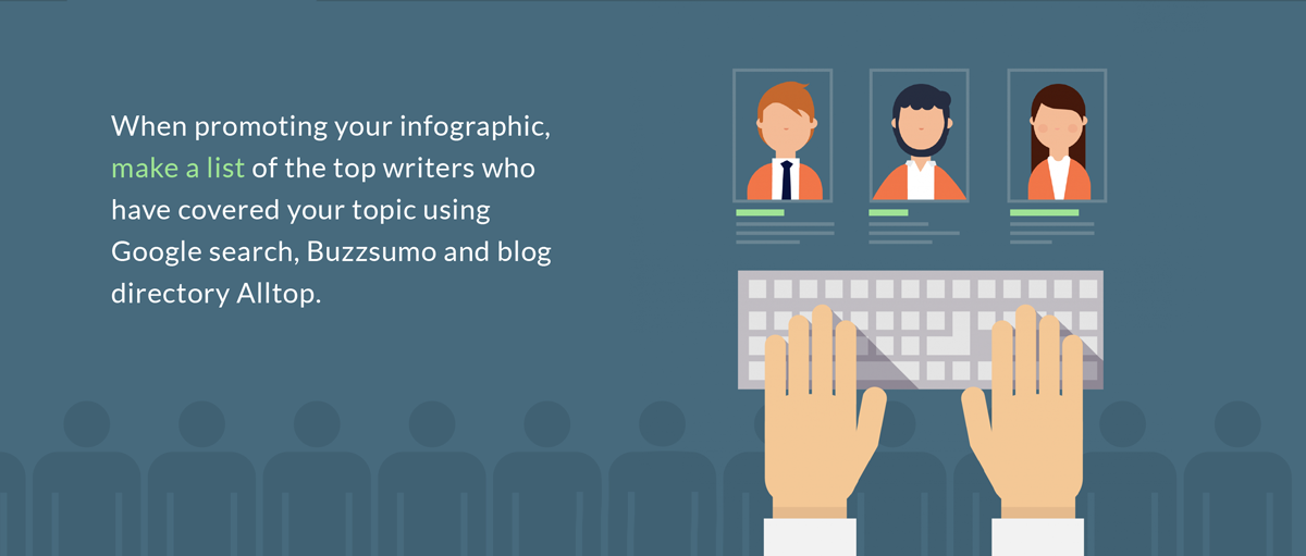 guestographics infographic marketing 10 small things that can make a big difference when promoting your infographic make a list of top writers