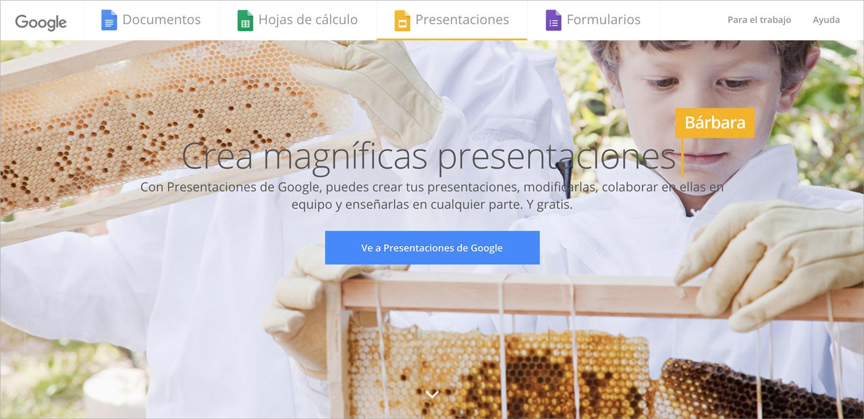 google slides programas para hacer presentaciones