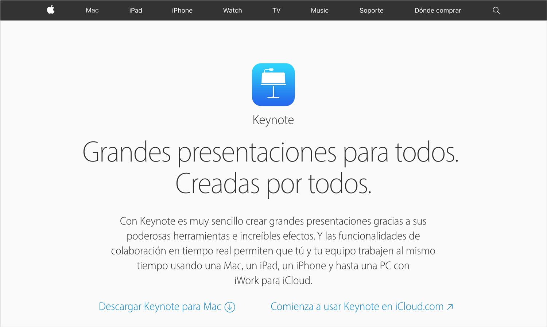 keynote programas para hacer presentaciones