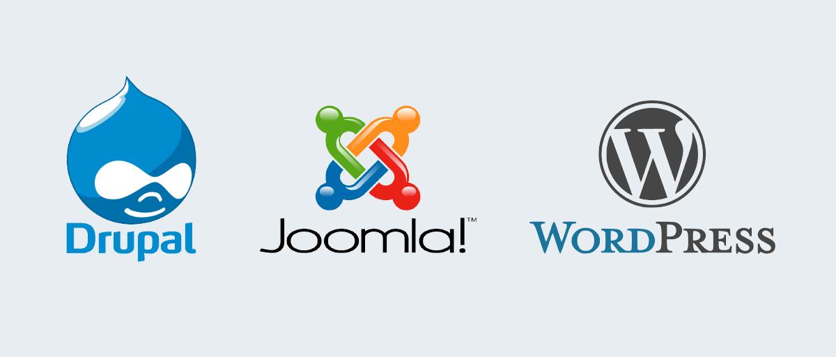 content management system drupal joomla wordpresss
