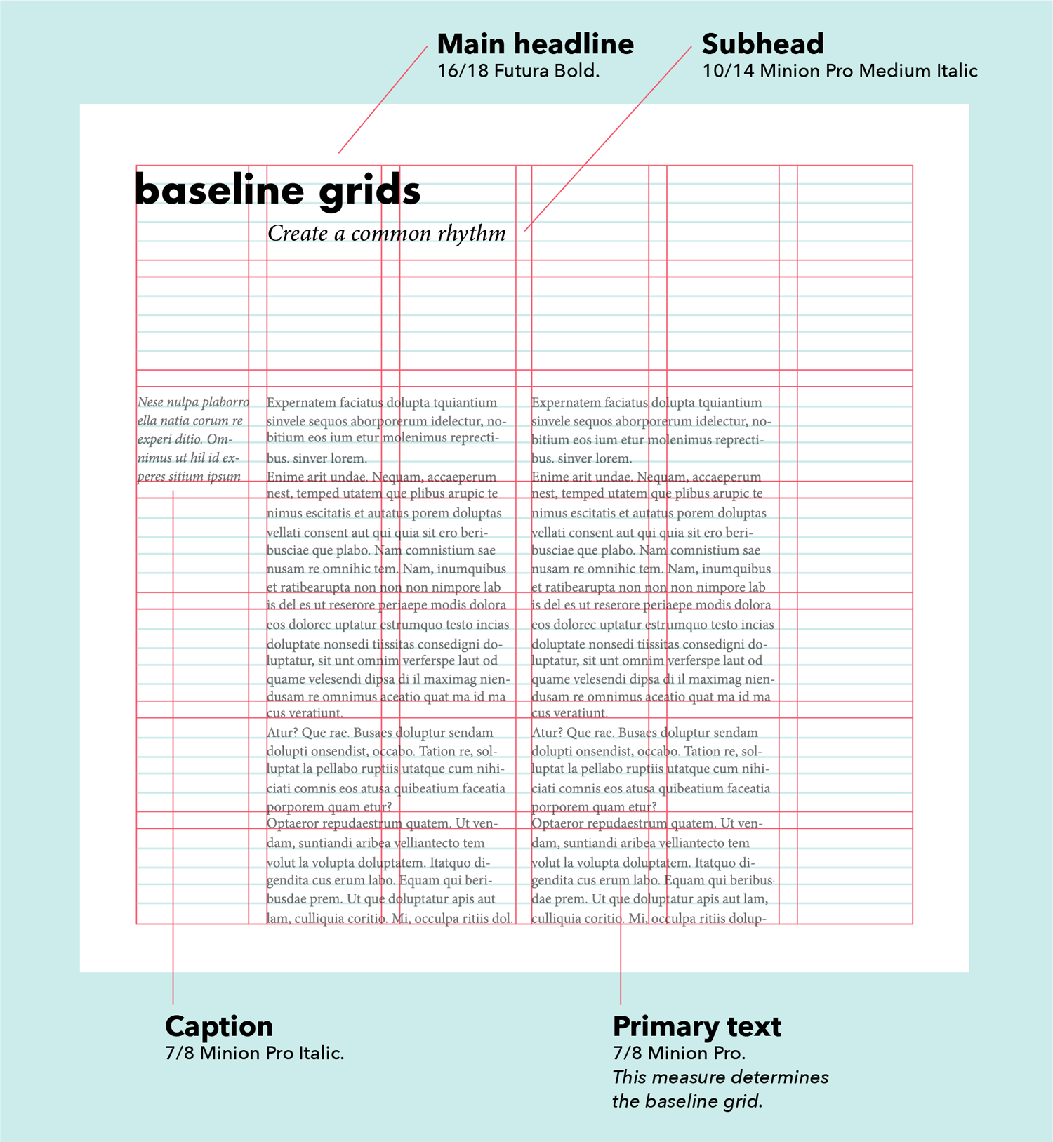 baseline grid layout design types of grids grid design grid system