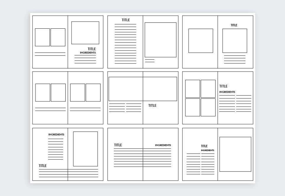 this example of the page by page layout of an entire magazine template from graphic river is a great example of a composite grid