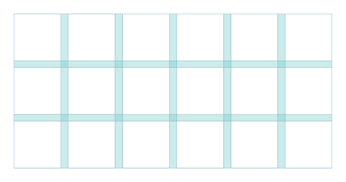 gutters layout design types of grids grid design grid system