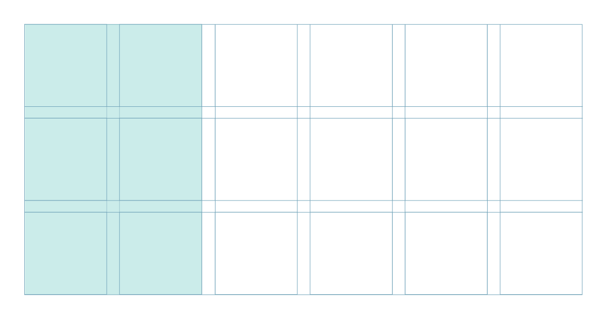 spatial zones regions layout design types of grids grid design grid system
