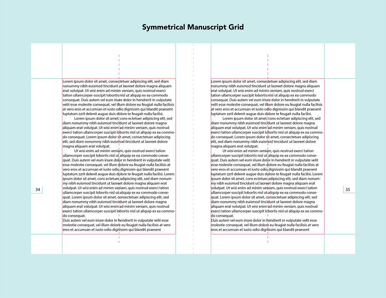 symmetrical manuscript grid layout design types of grids grid design grid system