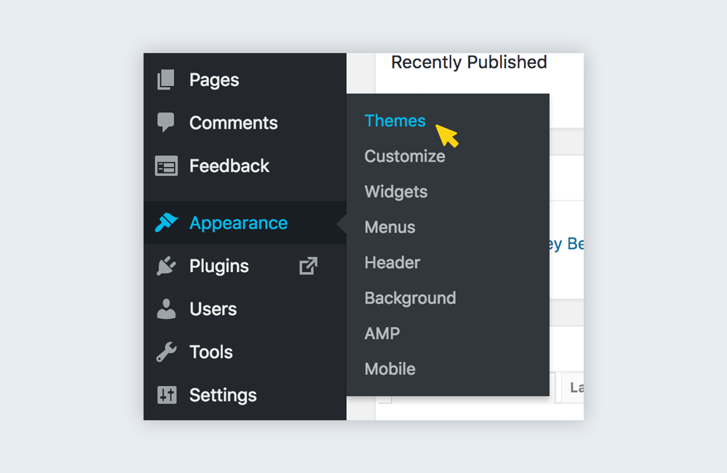 wordpress appearance menu how to design a website wordpress tutorial how to install a wordpress theme in 20 steps