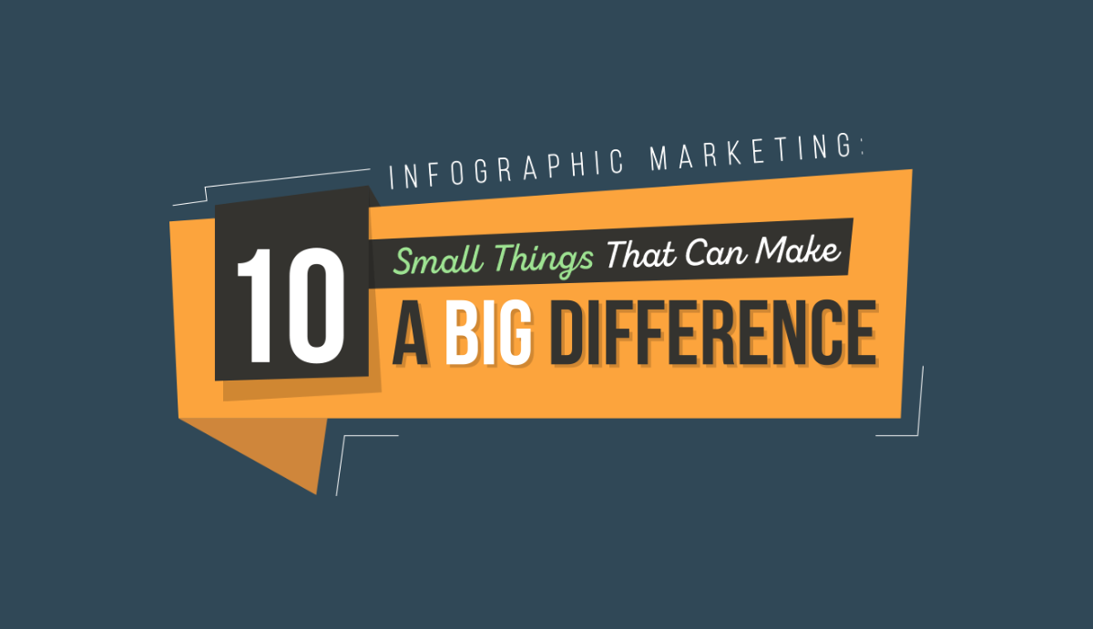 guestographics infographic marketing 10 small things that can make a big difference