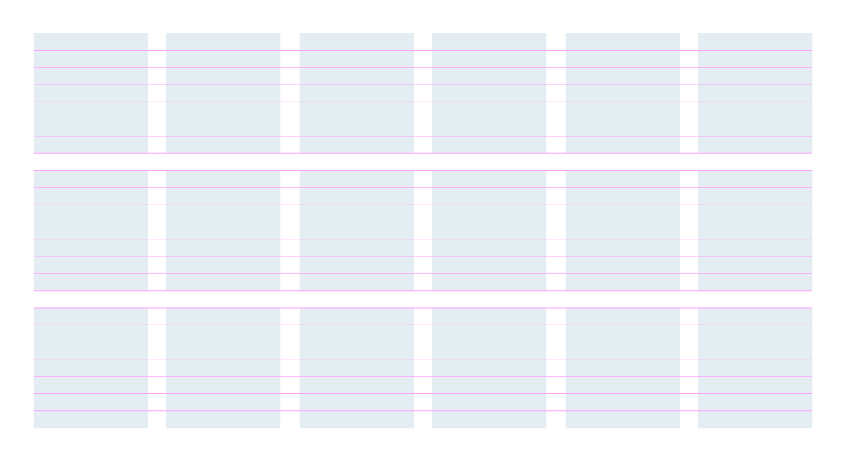 layout design grids - flowlines baselines
