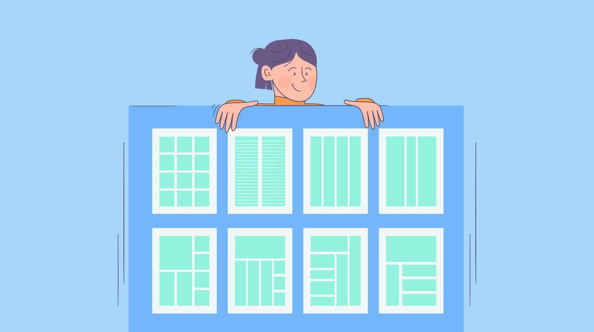 layout design grids - header